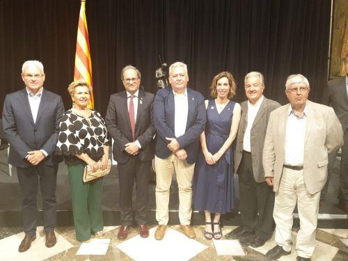Recepció del President de la Generalitat de Catalunya a una representació dels Plens de les Cambres Catalanes