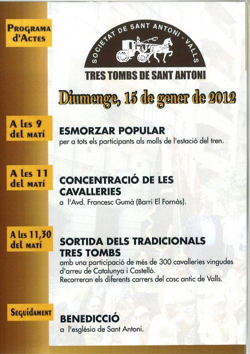 TRES TOMBS DE SANT ANTONI A VALLS
